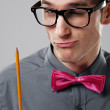 Nerd man student - Stock Photo