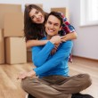 Royalty-Free Stock Photo: Happy couple in their new house