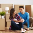 Couple packing their stuff - Stock Photo