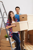 Couple packing their stuff — Stock Photo