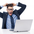 Shocked male office worker — Stock Photo