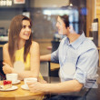 Stock Photo: Romantic date in cafe