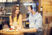 Romantic date in cafe — Stock Photo