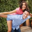 Young couple have fun during the date — Stock Photo #28852227