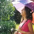 So much fun from summer rain  — Stock Photo