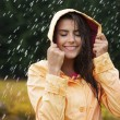 Natural female beauty in autumn rain — Stock Photo #29122215