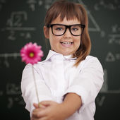 Flower for my favourite teacher — Stock Photo