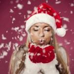 Weihnachten Schneegestöber — Stockfoto