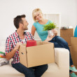 Couple arranging a new flat — Stock Photo #30583419