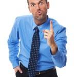 Businessman threatening you — Stock Photo
