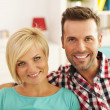 Couple in living room — Stock Photo