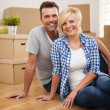 Stock Photo: Couple in new house
