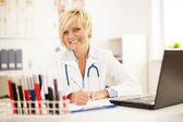 Female doctor hard working — Stock Photo
