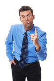 Businessman threatening you — Stockfoto