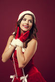 Cheerful christmas woman — Stock Photo