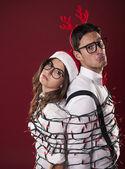 Nerd couple — Stock Photo
