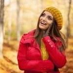 Woman in fashion autumn clothes — Stock Photo