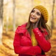 Woman in fashion autumn clothes — Stock Photo