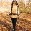 Attractive young woman hiking — Stock Photo