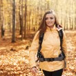 Beautiful female hiker — Stok fotoğraf