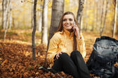 Hiker woman resting — Стоковое фото