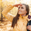 Smiling female hiker — Stock Photo