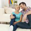 Couple in living room — Stock Photo #40609499