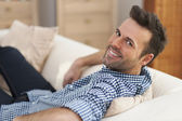 Handsome man at home — Stock Photo