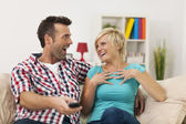 Laughing couple — Stock Photo