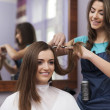 Cutting hair at the hairdresser — Stock Photo #41956429