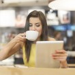 Woman in cafe — Stock Photo #41987671