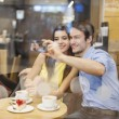 Couple taking selfie photo — Stock Photo