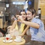Couple taking selfie photo — Stock Photo