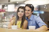 Couple on romantic date — Stock Photo