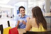 Schůzka v kavárně — Stock fotografie