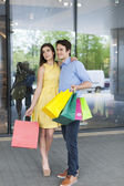 Fashion couple — Stock Photo