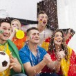 Excited fans of soccer — Stock Photo
