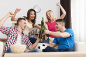 Party home after winning — Stock Photo