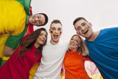 Happy multinational people — Stockfoto