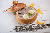 Traditional easter soup — Stock Photo