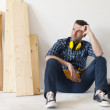 Carpenter relaxing — Stock Photo #43803761
