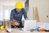 Contractor at work — Stock Photo