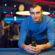 Man in billiard club — Stock Photo