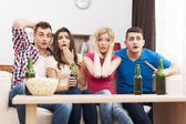 Friends watching movie — Foto de Stock