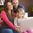 Family enjoying of modern technology — Stock Photo #45779873