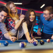 Friends playing billiard — Stock Photo #45812997