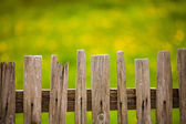Old wood fence — Stockfoto
