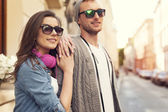 Couple in the city — Foto Stock