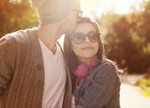 Loving young couple — Foto Stock