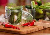Homemade pickles — Stock Photo